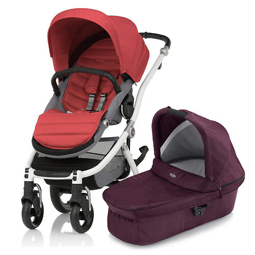 Britax Affinity 2 - Белая рама / Красный (Chili Pepper / Wine Red Denim)