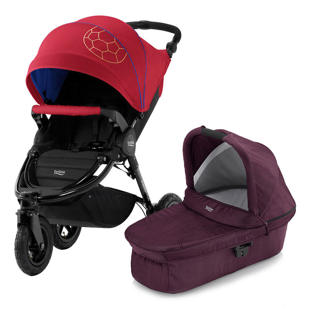 Britax B-Motion 3 Plus - Красно-синий (Football Limited Edition / Wine Red Denim)