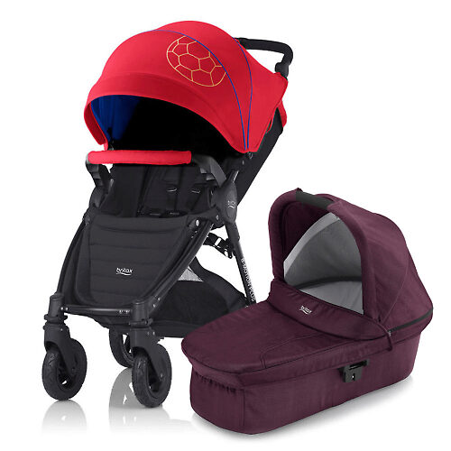 Britax B-Motion 4 Plus - Красно-синий (Football Limited Edition / Wine Red Denim)