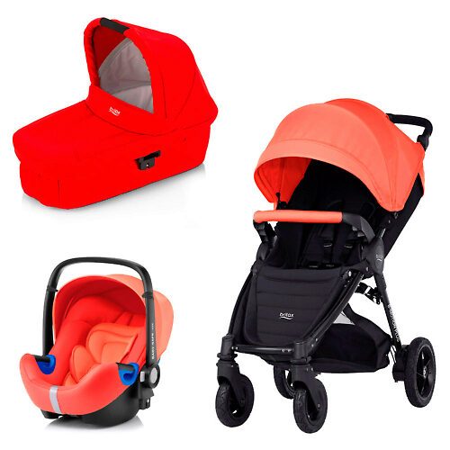 Britax B-Motion Plus + Baby Safe i-Size - Коралловый (Coral Peach / Flame Red)