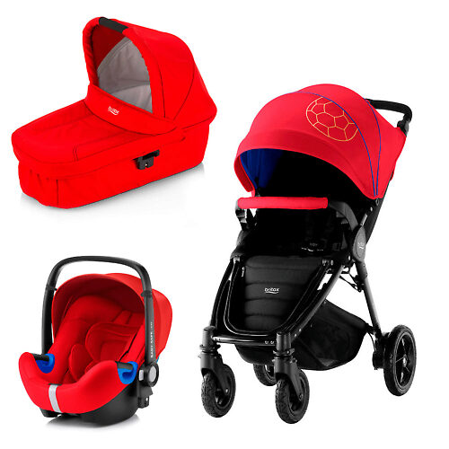 Britax B-Motion Plus + Baby Safe i-Size - Красный / Синий (Football Limited Edition)