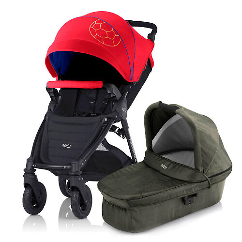 Britax Römer B-Motion 4 Plus - Красно-синий (Football Limited Edition / Olive Denim)