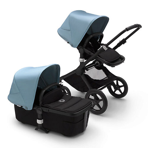 Bugaboo Fox 2 BLACK - Чёрный / Голубой (Black / Vapor Blue)