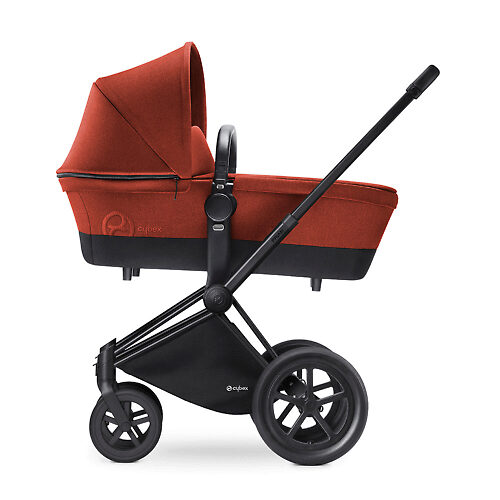 Cybex Priam Lux Matt Black - Оранжевый (Autumn Gold) / Колеса All Terrain