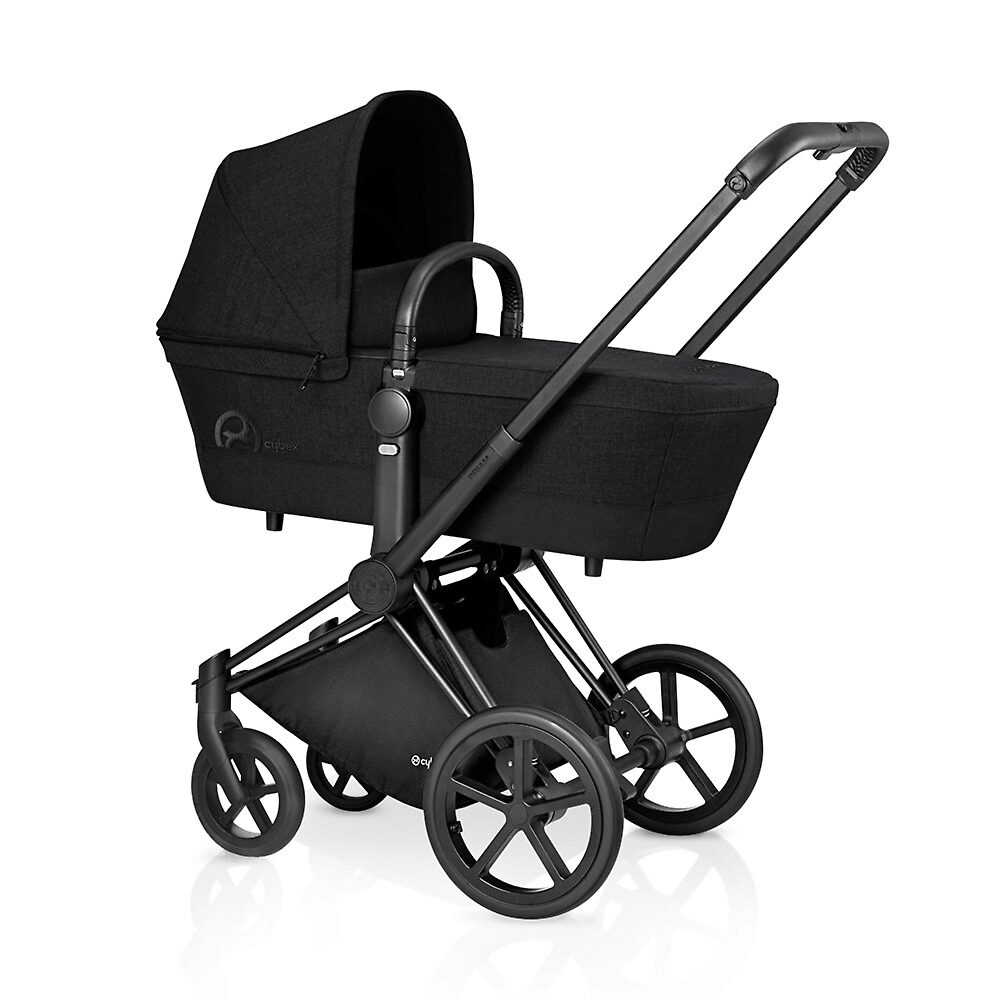 Cybex Priam Lux Matt Black - Чёрный (Stardust Black) / Колеса Trekking