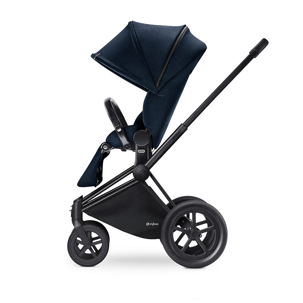Cybex Priam Lux Matt Black - Тёмно-синий (Midnight Blue) / Колеса All Terrain