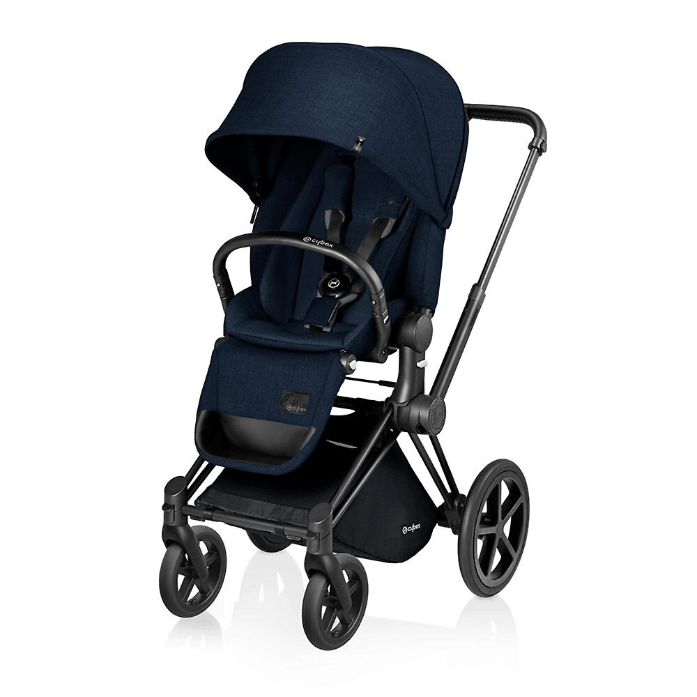 Cybex Priam Lux Matt Black - Тёмно-синий (Midnight Blue) / Колеса Trekking