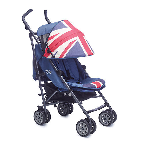 MINI by Easywalker buggy XL - Синяя джинса (Vintage Union Jack)